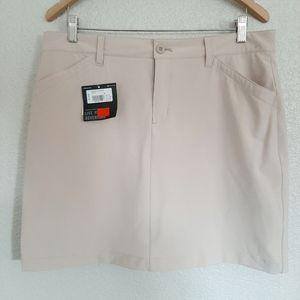NWT Eddie Bauer Cream Khaki Skort Size 12